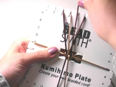 Beading Ideas - How to use squared Kumihimo loom for a Bracelet