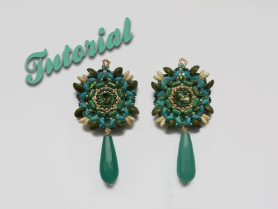 "[Beadwork] |DIY| Tutorial ""Rice Piggy Earrings"" Orecchini con Rizo, Rulla e Piggy beads"