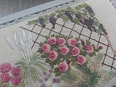 Bullion Knot Stitch Rose Bud Video Tutorial