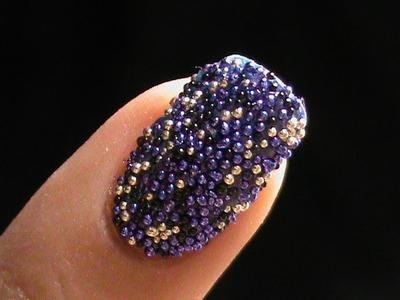 Caviar Nails DIY- how to do Caviar nail art at home with 3d cavair beads - easy nail polish designs