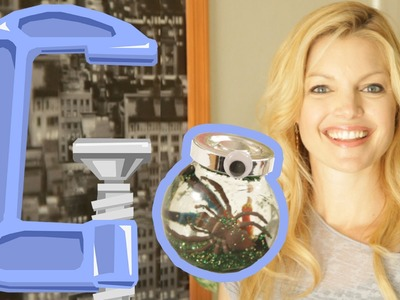 Clare Kramer Crafts Spider Snow Globes - Geek DIY - Ep7
