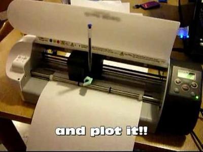 Craft robo CC330-20 Home made pen