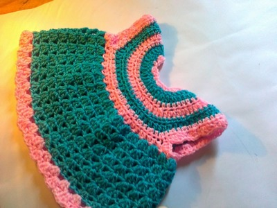 Crochet baby frock step by step