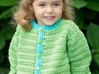 #Crochet - fun time cardigan ( video two )