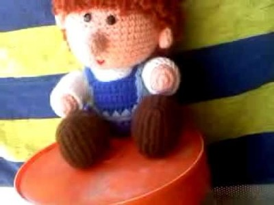 Crochet little boy doll
