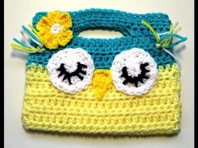 #Crochet Owl Childs Purse Video 2