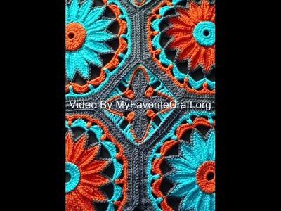 Crocheted Daisy Afghan  - Quick Crochet Afgan Pattern Presentation