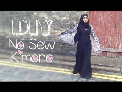 DIY│Back to School NO Sew Kimono