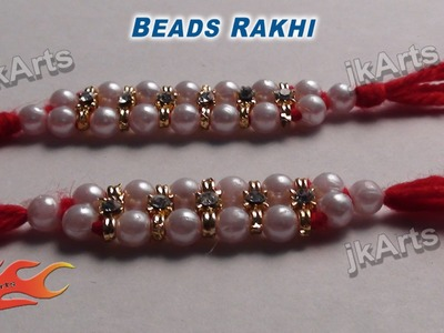 DIY Beads Rakhi for Raksha Bandhan - JK Arts 363