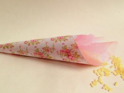DIY-Coni porta confetti.riso .  Wedding Rice cone