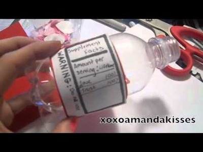 Diy craft valentine day card message in the bottle