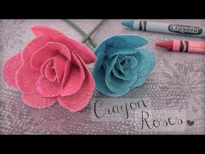 DIY Crayon Roses. Fabric Flower How To
