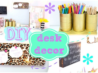 ✂ DIY Desk Decor | Easy & Inexpensive ✂