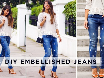 DIY Embellished Jeans
