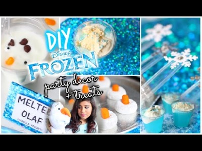 DIY Frozen Inspired Party Decorations + Treats! 2015