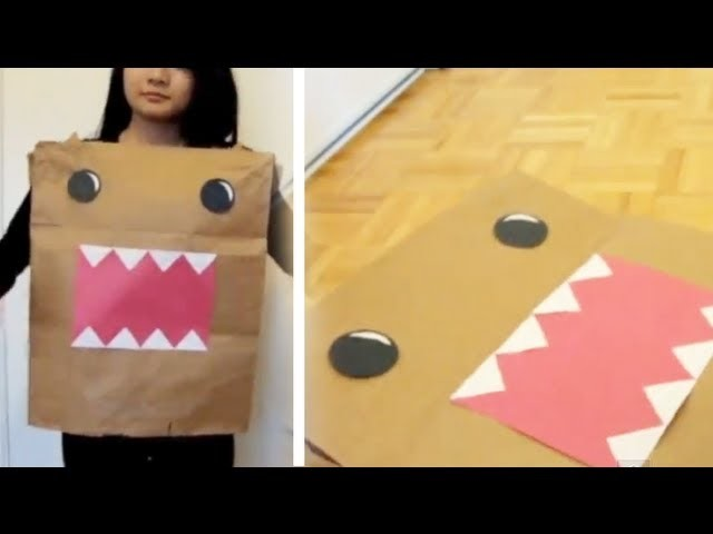 DIY Last Minute Halloween Costume: Domo
