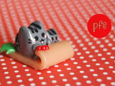 DIY Pusheen Cats in a Toboggan Polymer Clay Miniature Tutorial