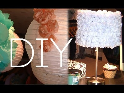 DIY Rose Decor Lamp & Lantern