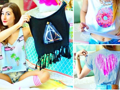 DIY T-Shirt Ideas Inspired By Tumblr | Easy & Cute Tumblr Shirts