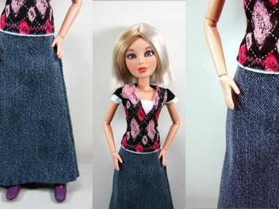 Doll Crafts: How to make a skirt for your fashion doll