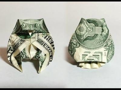 Dollar bill origami owl (preview) money origami, moneygami, $1 bill origami, dollar origami