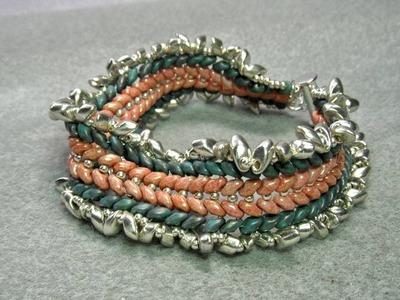 Double Herringbone Superduo Beads Bracelet