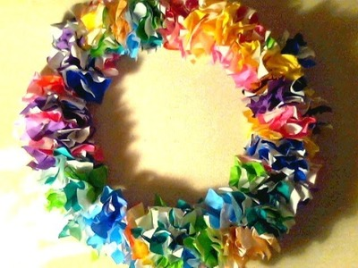 Easy Origami Paper Wreath.