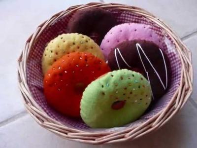 "Felt Crafts - Felt Food Donut Patterns (from the ""Felt Cuisine"" series) - Now on eBay !"