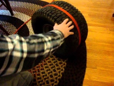 Flat Tire Repair: Seating the Bead on a Mower