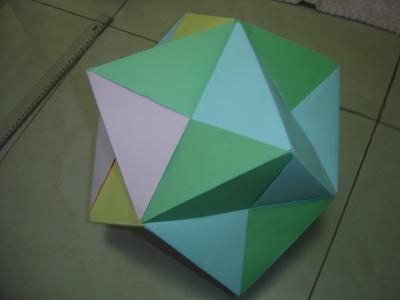 How to Make a Giant Origami Dodecahedron \O. (Como Fazer um Dodecaedro gigante de Origami)