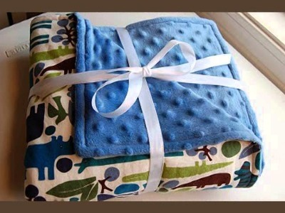 How To Make a Minky Baby Blanket