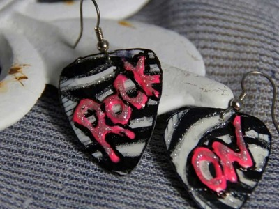 How to make Duct Tape Rock Star Earrings