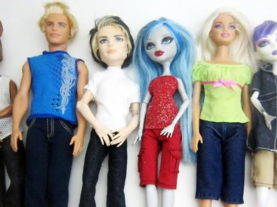 How to make long pants and shorts for Monster High. Barbie dolls - Doll Crafts