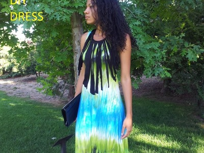 HOW TO SEW A TRENDY FRINGE MAXI DRESS EASY DIY