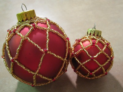Large Beaded Ornament ~ Part 1 of 2
