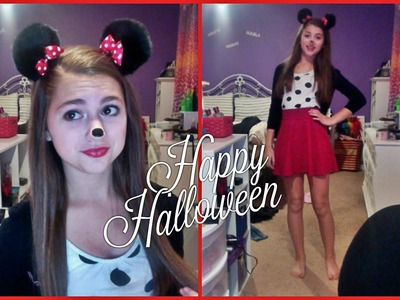 Last Minute Minnie Mouse Halloween Costume DIY!