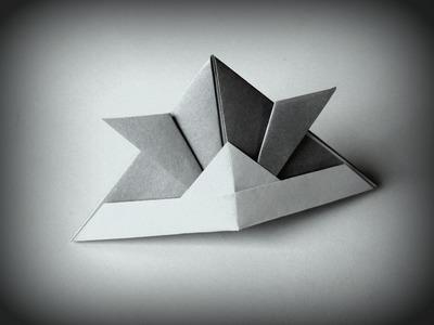 Origami - How to make a Samurai Helmet