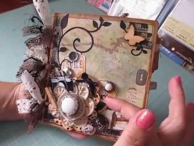 Paper Bag Scrapbook Album ~ Prima Life Time Collection