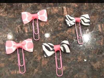 Paper Clip Tuxedo Bows- DIY Party Favors & Gifts!
