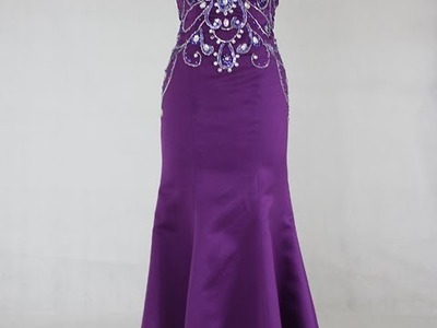 Satin Sequins Swirl Mermaid Formal Dress (Style Code 11064, $429)