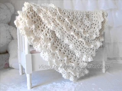 Victorian Crochet Baby Blanket . Pattern Presentation