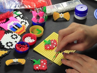 Video Tutorial Orecchino fragola pyssla hama beads earrings strawberry Full HD 1080p