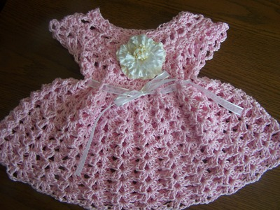 Video3 crochet sparkle cotton baby girl spring summer dress