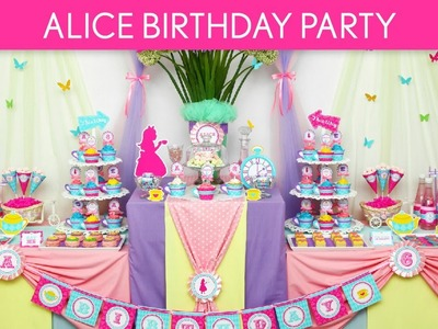 Alice in Wonderland Birthday Party Ideas. Wonderland Tea Party - B40
