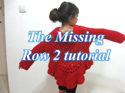 Butterfly Stitch Circular Jacket - Part 1 (Row 2) - Left Handed Crochet Tutorial