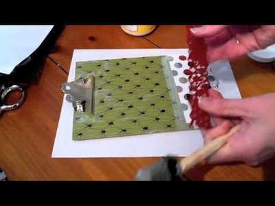 Cool paper Crafts: How to Make a Halloween Clipboard