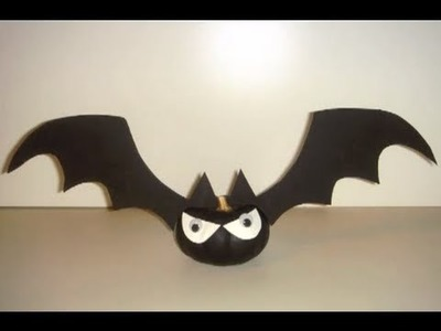 CRAFT - How to Make Halloween Bat-O' Lantern