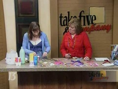 CraftSanity on TV: Making jewelry out of recyclables