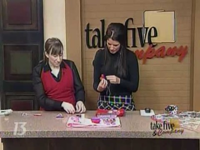 CraftSanity on TV: Valentine's Day project