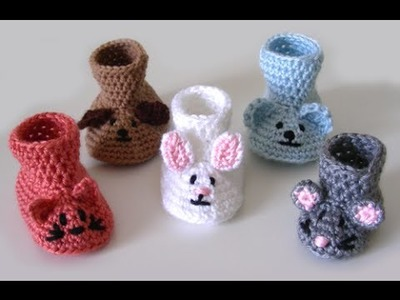Crochet baby shoes, █▬█ █ ▀█▀, Crochet Baby Booties,